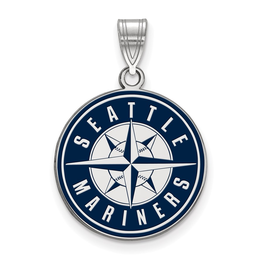 Sterling Silver MLB Seattle Mariners Pendant