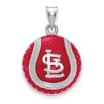 Sterling Silver MLB St. Louis Cardinals Baseball Pendant