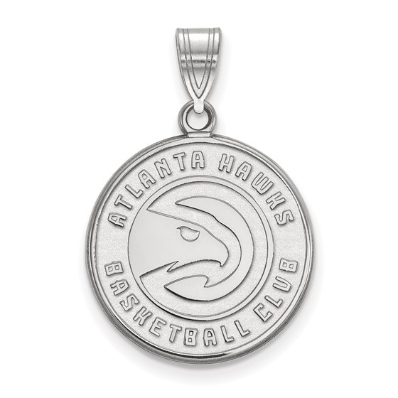 Sterling Silver NBA Atlanta Hawks Large Pendant