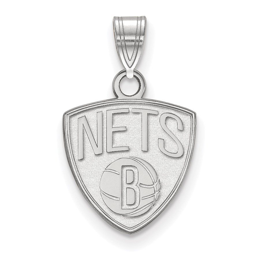 Sterling Silver NBA Brooklyn Nets Small Pendant