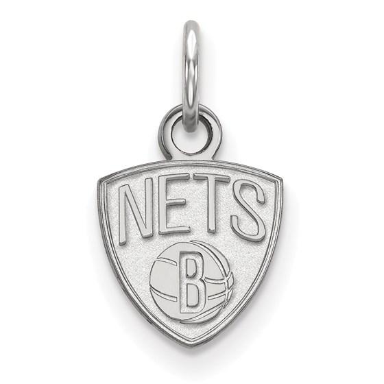 Sterling Silver NBA Brooklyn Nets XS Pendant
