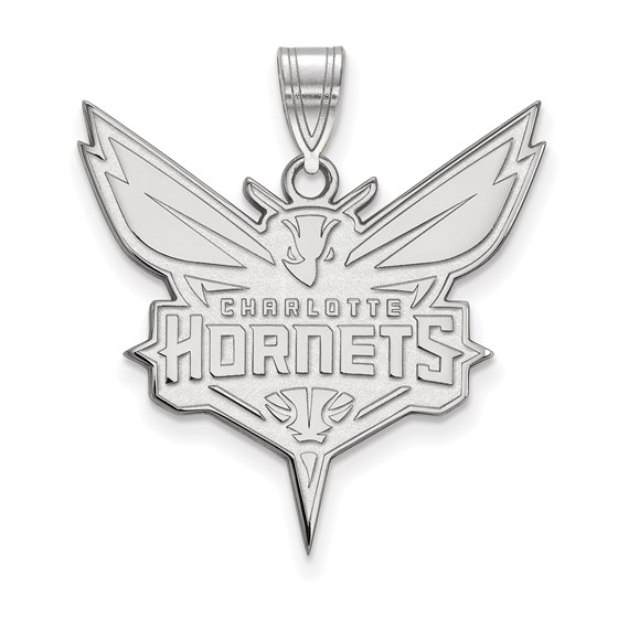 Sterling Silver NBA Charlotte Hornets XL Pendant