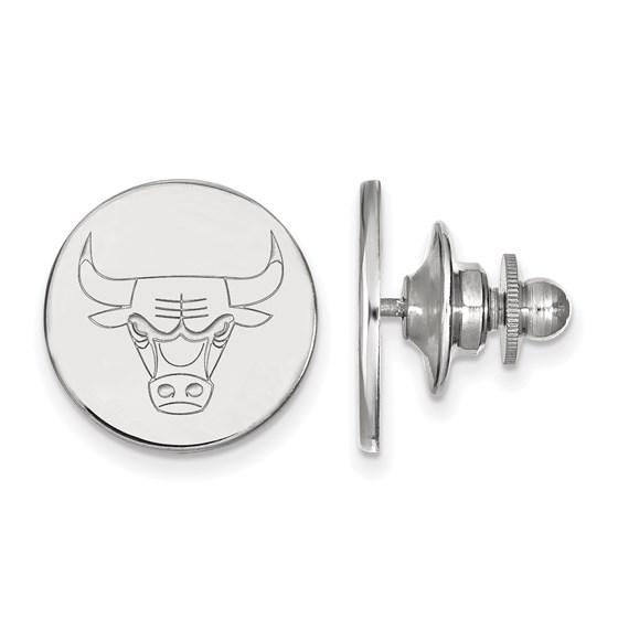 Sterling Silver NBA Chicago Bulls Lapel Pin