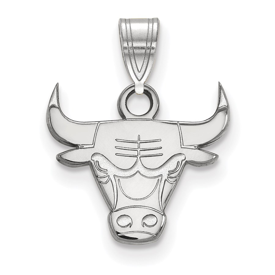 Sterling Silver NBA Chicago Bulls Small Pendant