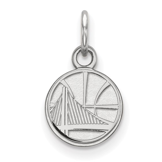 Sterling Silver NBA Golden State Warriors XS Pendant