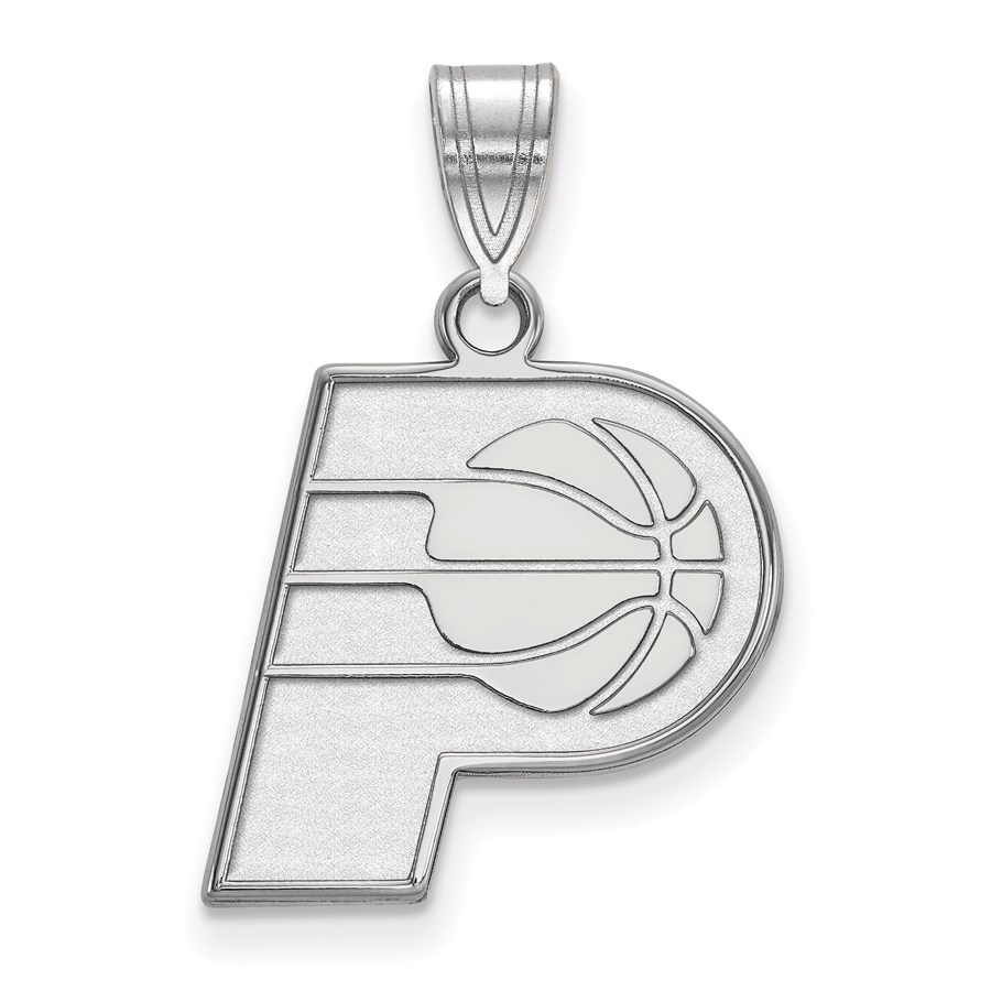 Sterling Silver NBA Indiana Pacers Medium Pendant