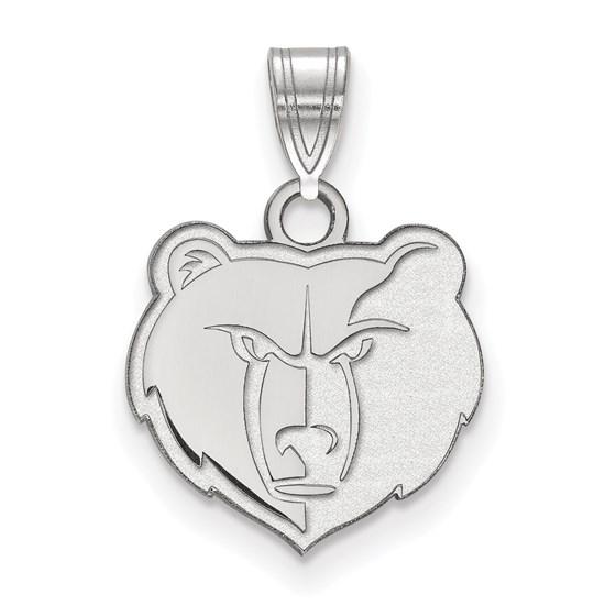 Sterling Silver NBA Memphis Grizzlies Small Pendant