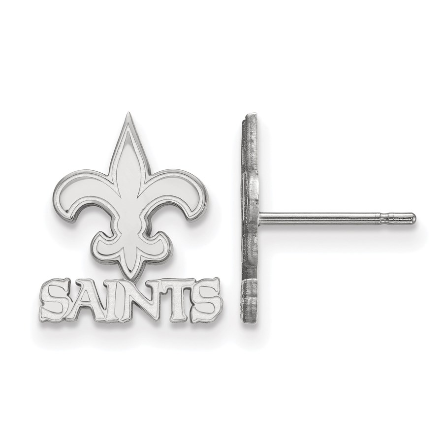 Sterling Silver New Orleans Saints XS Post Earring