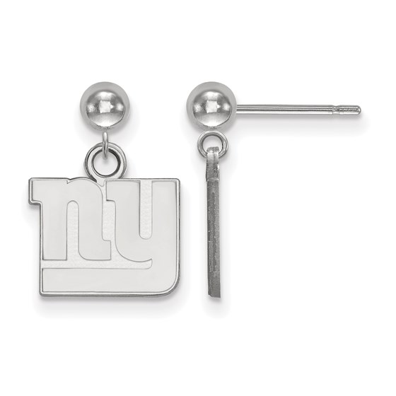 Sterling Silver New York Giants Dangle Ball Earrings