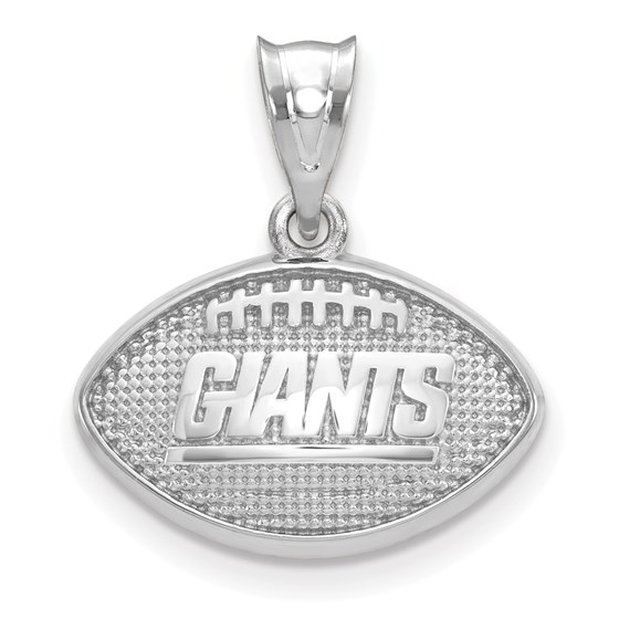 Sterling Silver New York Giants Football with Logo Pendant