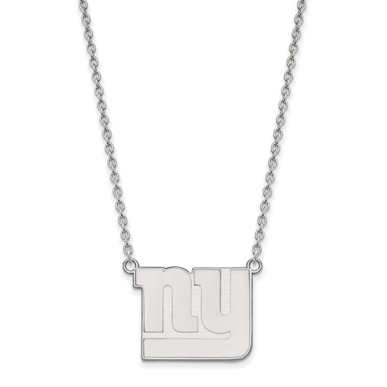 Sterling Silver New York Giants Large Pendant Necklace