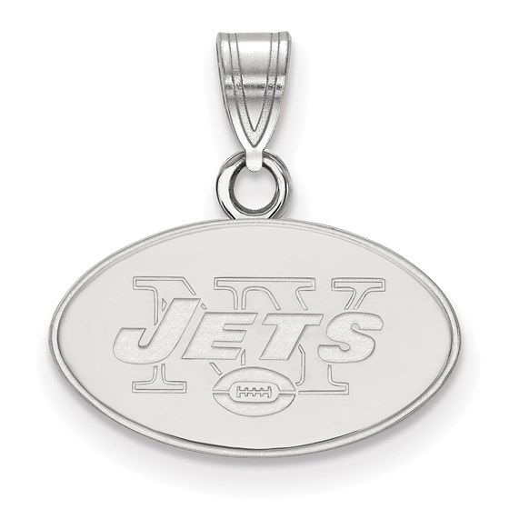 Sterling Silver New York Jets Small Pendant