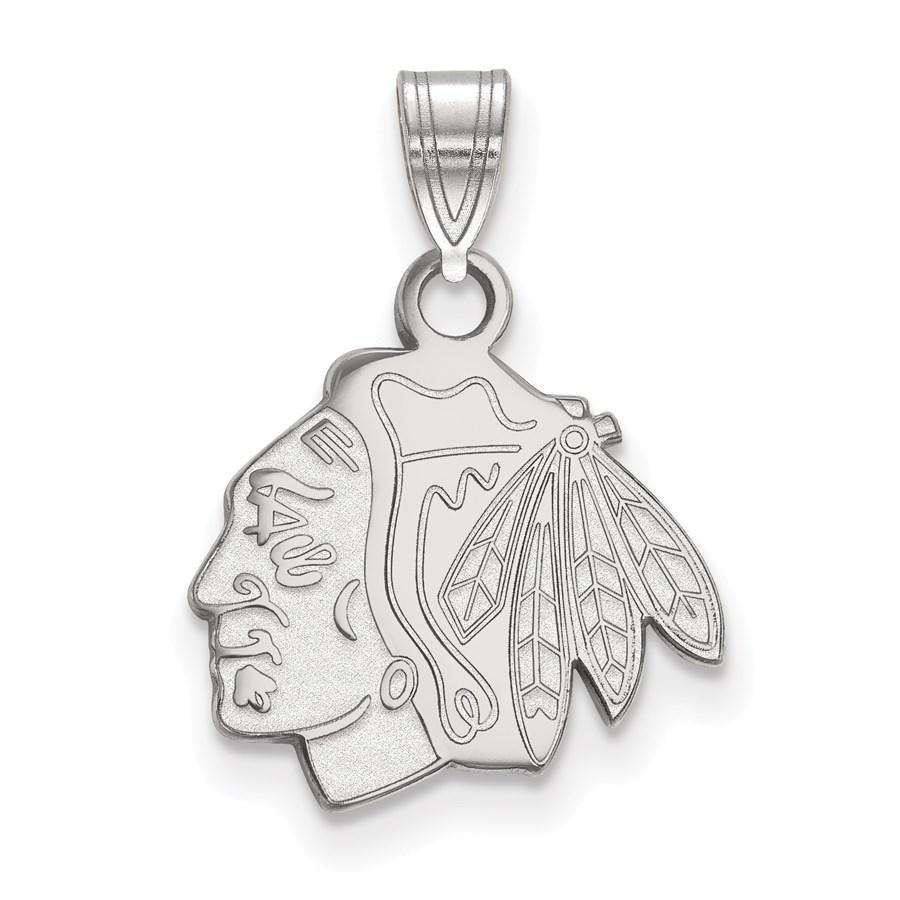 Sterling Silver NHL Chicago Blackhawks Small Pendant