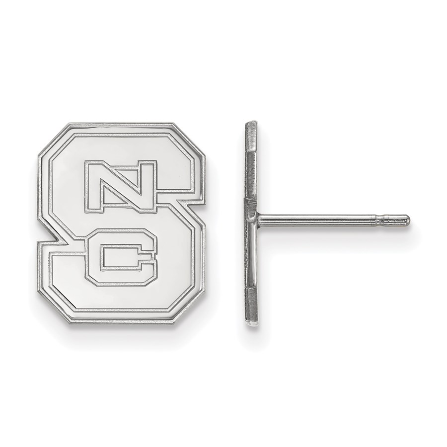 Sterling Silver North Carolina State University Post Earrings
