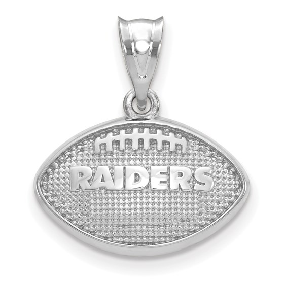 Sterling Silver Oakland Raiders Football with Logo Pendant