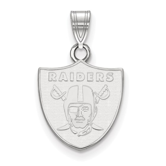 Sterling Silver Oakland Raiders Small Pendant