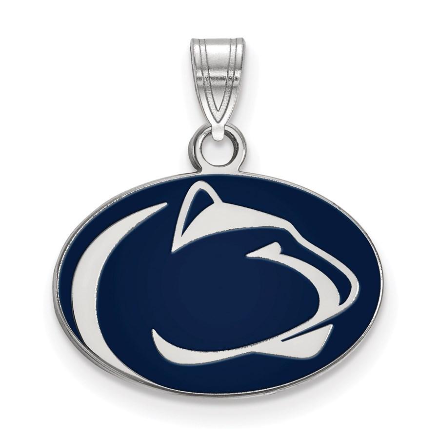 Sterling Silver Penn State University Enamel Pendant