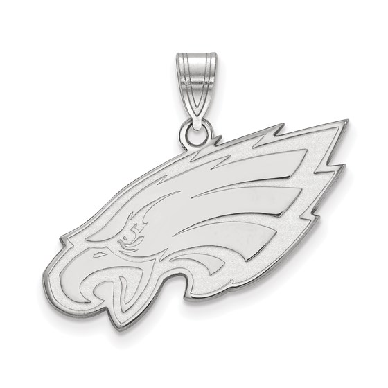 Sterling Silver Philadelphia Eagles Large Pendant