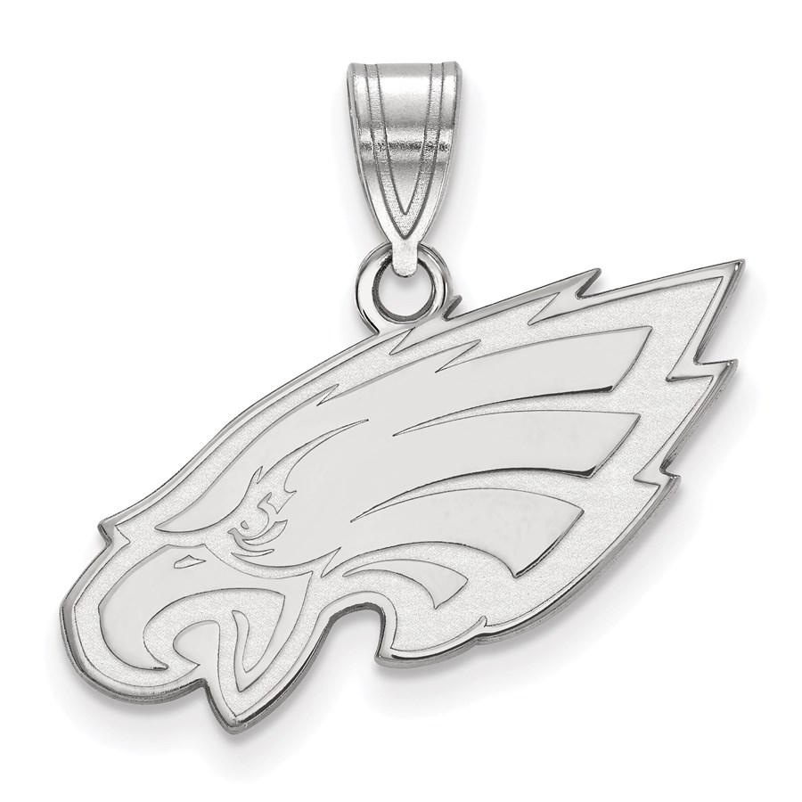 Sterling Silver Philadelphia Eagles Medium Pendant