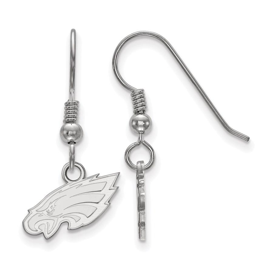 Sterling Silver Philadelphia Eagles XS Dangle Earring Wire