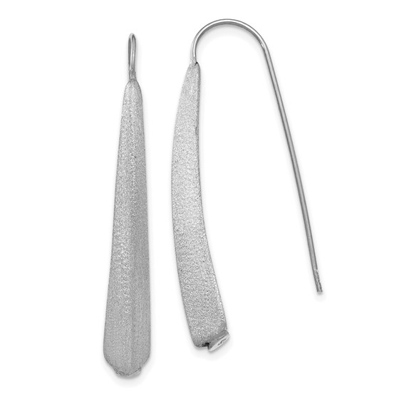 Sterling Silver Polished and Brushed Earrings - 41 mm