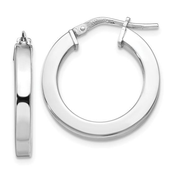 Sterling Silver Polished Hoop Earrings - 21.5 mm