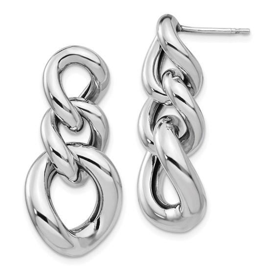 Sterling Silver Polished Post Dangle Earrings - 31.67 mm