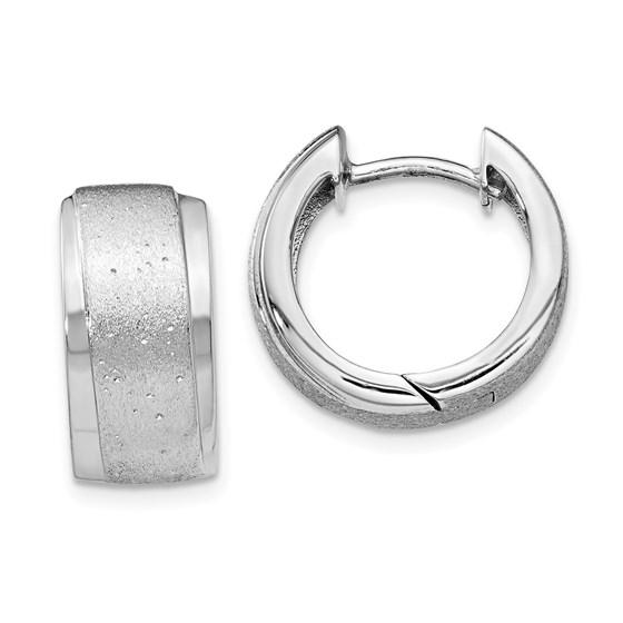 Sterling Silver Radiant Essence Hoop Earrings - 15 mm