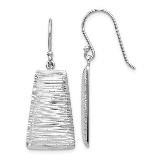 Sterling Silver Radiant Essence Shepherd Hook Earrings - 40 mm