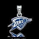 Sterling Silver Rhodium Plated NBA OKC Thunder Sm Enamel Pendant