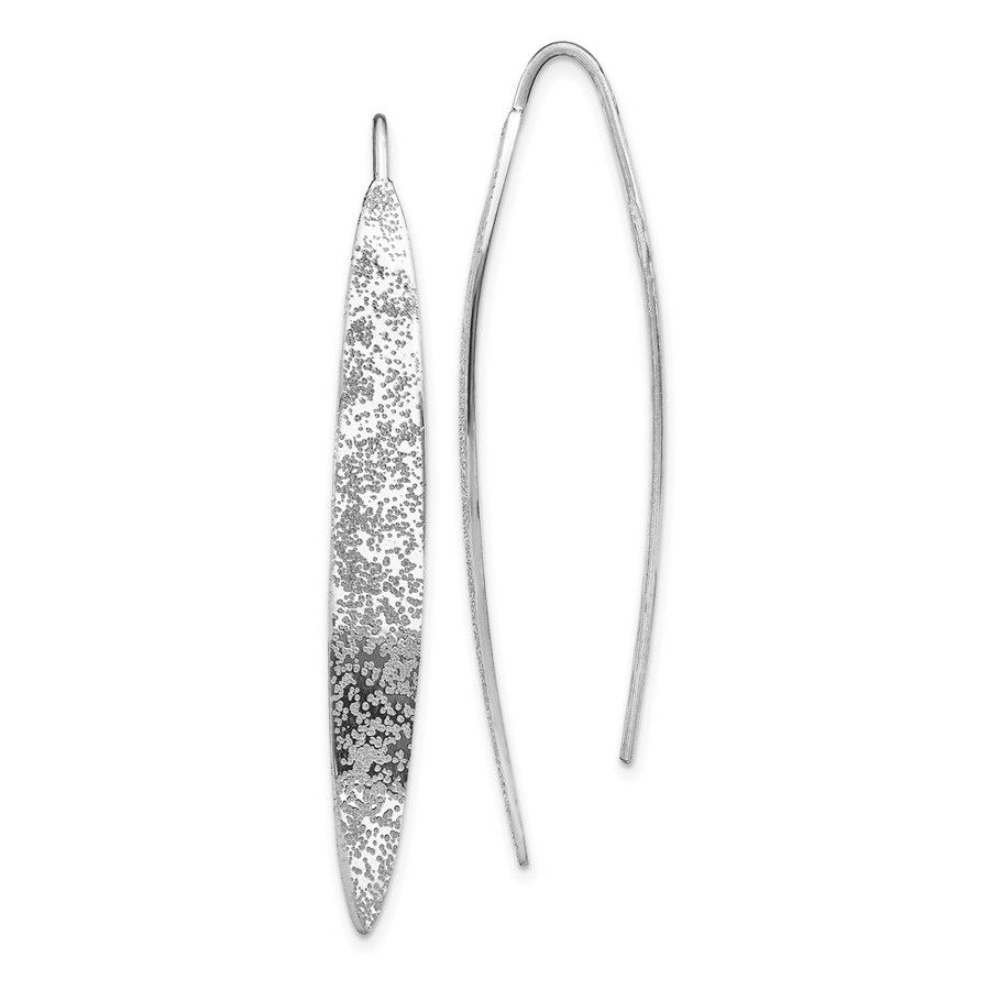 Sterling Silver RP Polished Threader Earrings - 53.08 mm