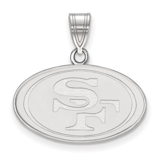 Sterling Silver San Francisco 49ers Medium Pendant