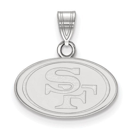 Sterling Silver San Francisco 49ers Small Pendant