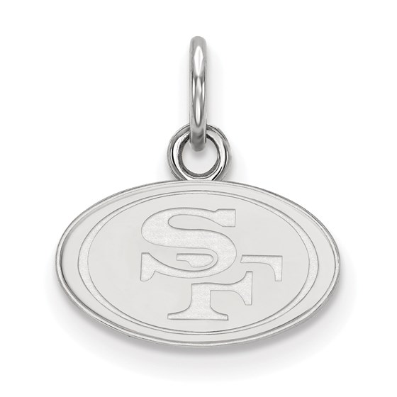 Sterling Silver San Francisco 49ers XS Pendant