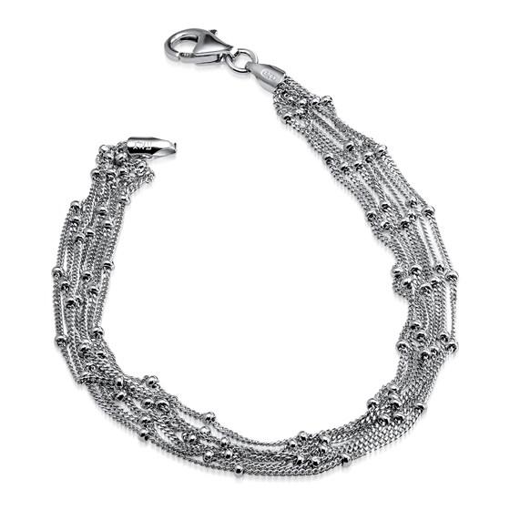 Sterling Silver Seven Strand Beaded Bracelet