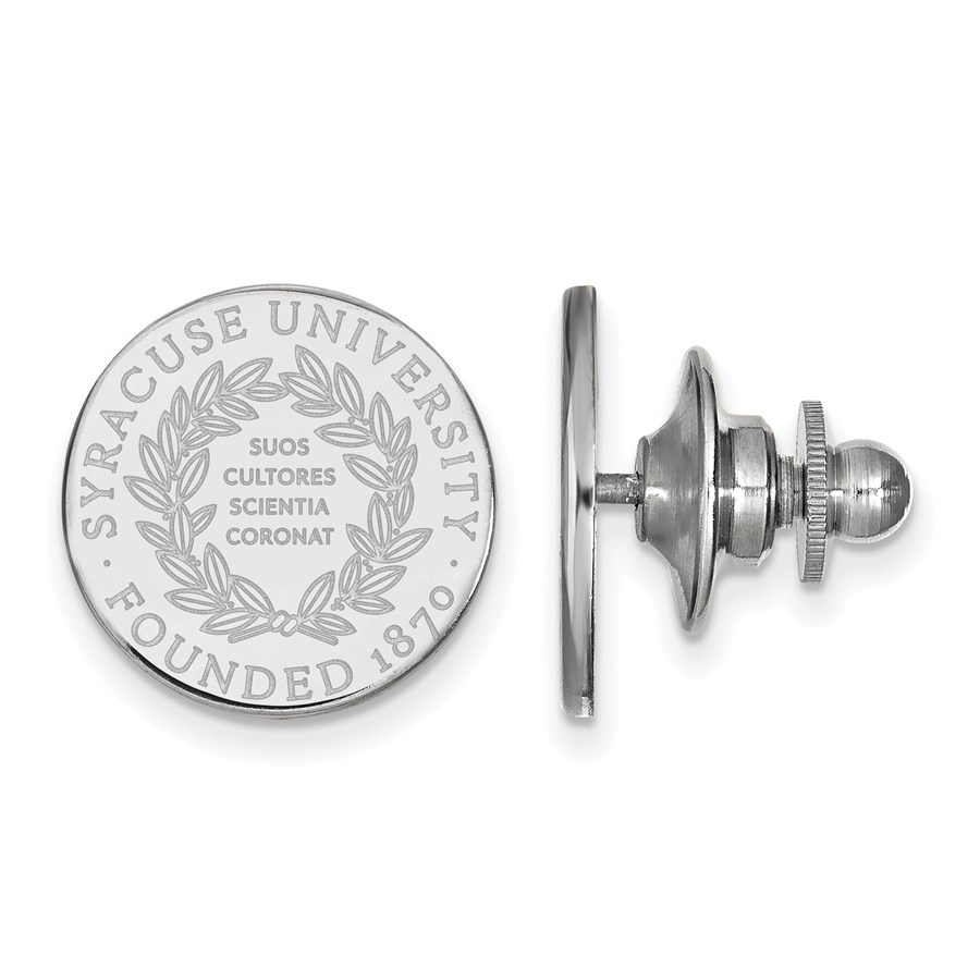 Sterling Silver Syracuse University Crest Lapel Pin
