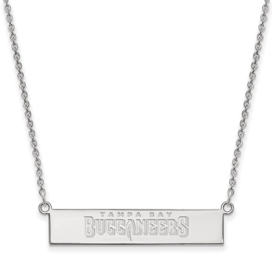 Sterling Silver Tampa Bay Buccaneers Small Bar Necklace
