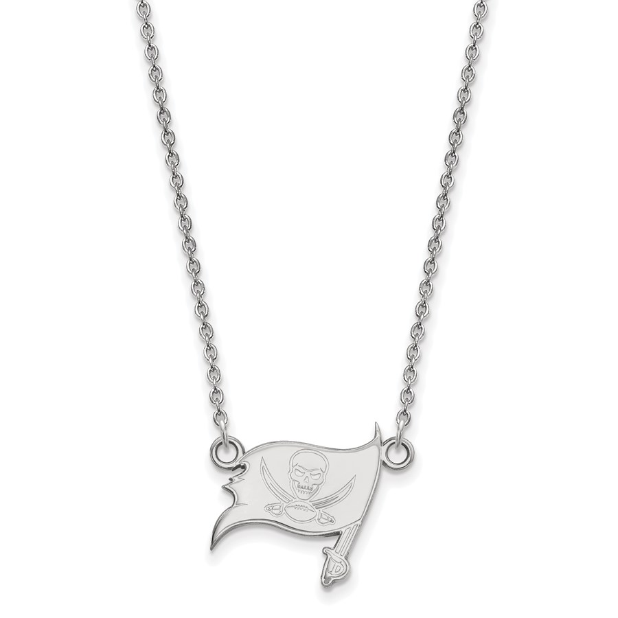 Sterling Silver Tampa Bay Buccaneers Small Pendant Necklace