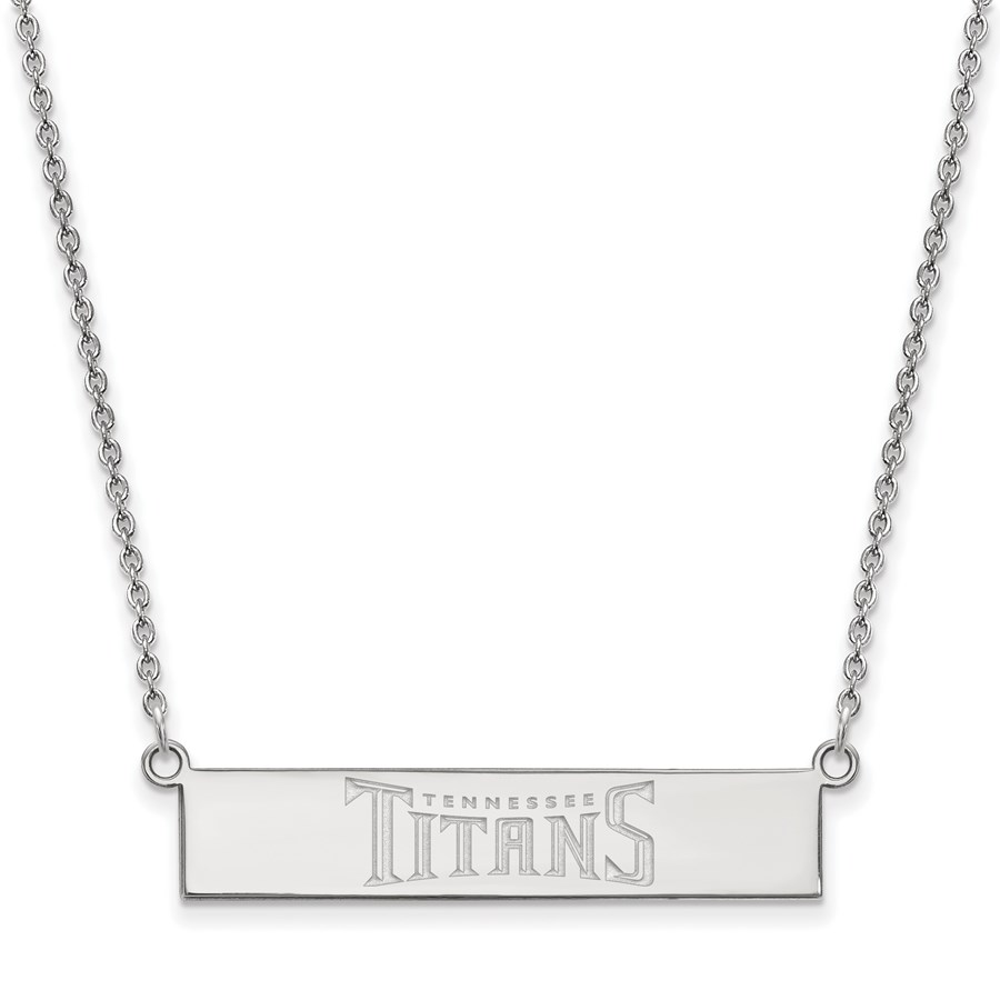 Sterling Silver Tennessee Titans Small Bar Necklace