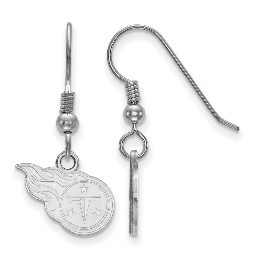 Sterling Silver Tennessee Titans XS Dangle Earring Wire