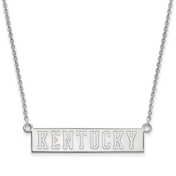 Sterling Silver Univ. of Kentucky Pendant Necklace - 18 in.