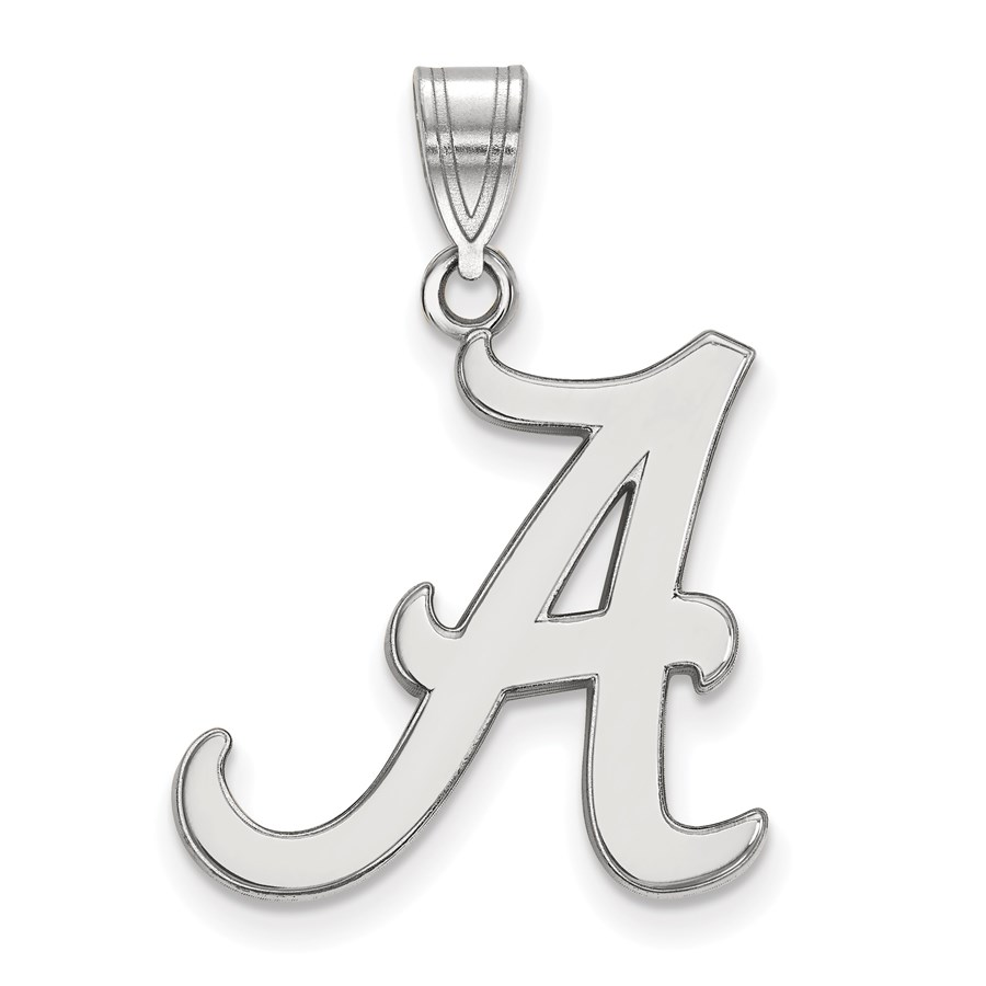 Sterling Silver University of Alabama Large Pendant