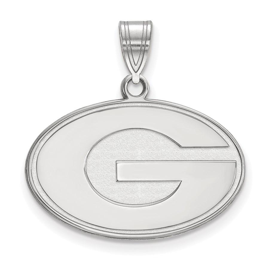 Sterling Silver University of Georgia Medium Pendant