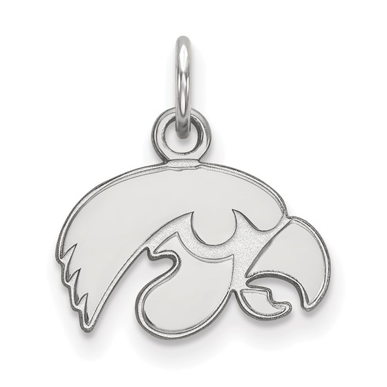 Sterling Silver University of Iowa Pendant