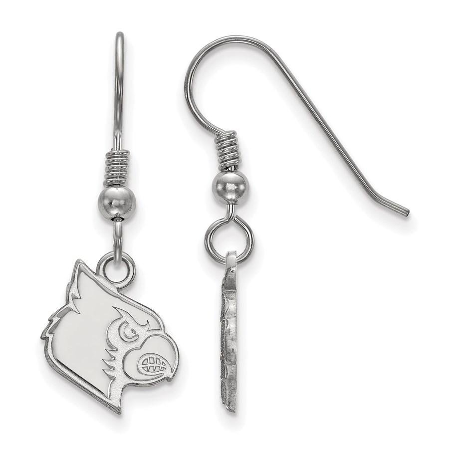 Sterling Silver University of Louisville Small Dangle Earrings