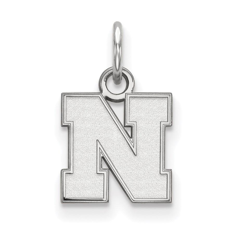 Sterling Silver University of Nebraska Pendant