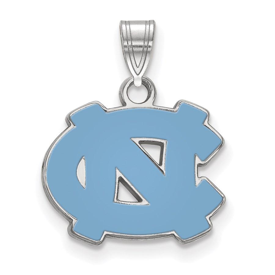 Sterling Silver University of North Carolina Enamel Pendant