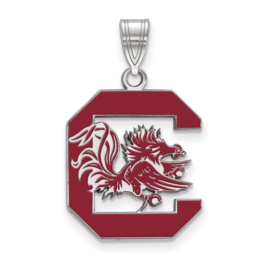 Sterling Silver University of South Carolina Enamel Pendant
