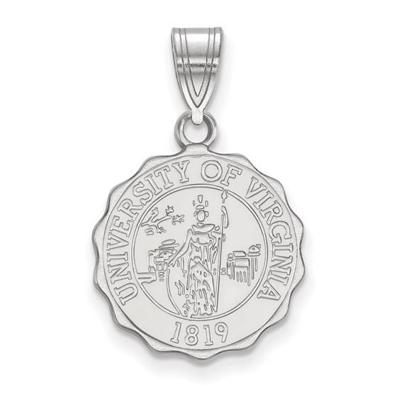 Sterling Silver University of Virginia Medium Crest Pendant