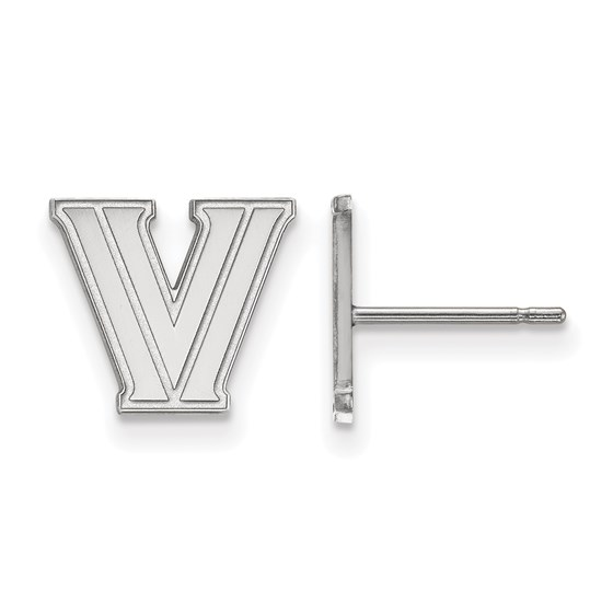 Sterling Silver Villanova University Post Earrings